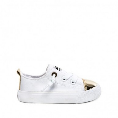 BASKET PUNTERA WHITE-GOLDEN