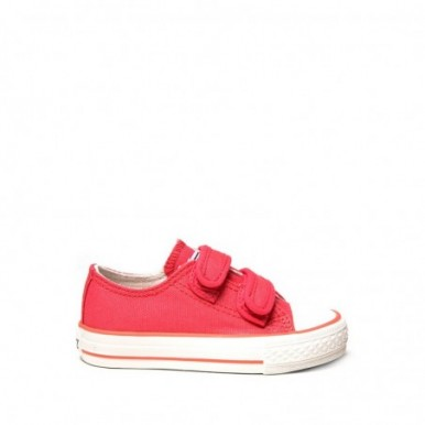 BASKET BABY VELCRO SILVER RED